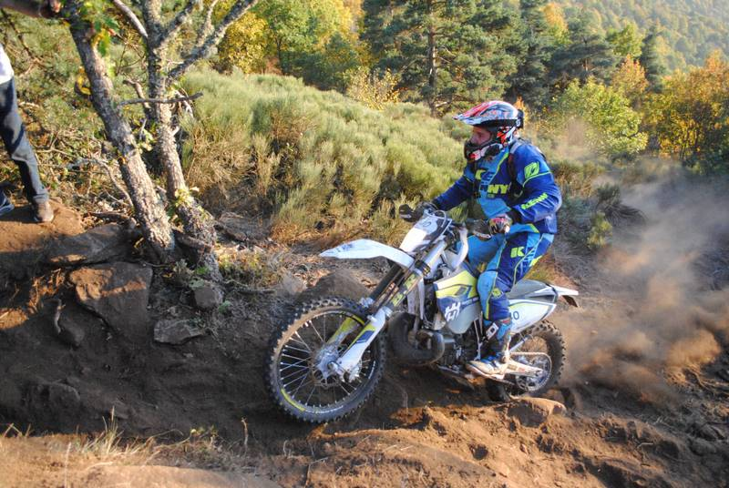 week end enduro Moto sur Cantal