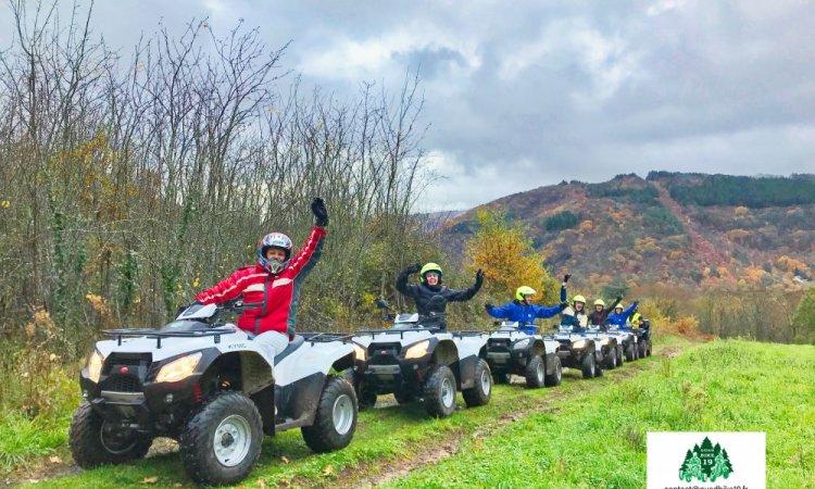 Randonnée en quad entreprise société Générale à Corrèze